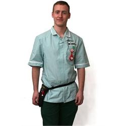 2ea5875e170 Men's Zip Front Nursing Tunic - Size 36